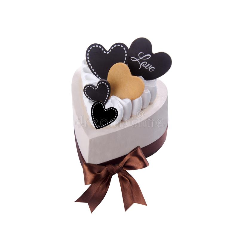 Crême glacée gâteau de crème glacée de chocolat images stock