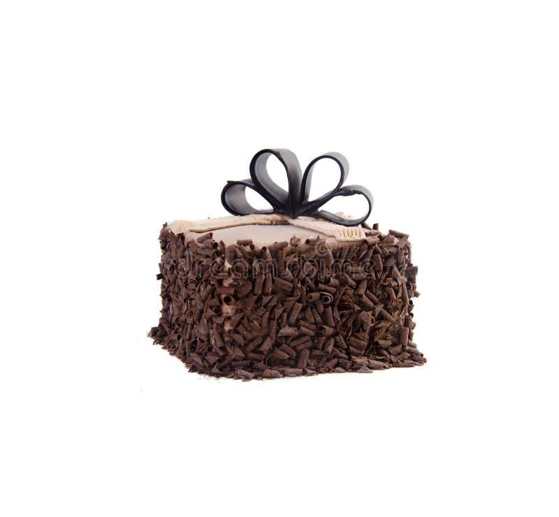 Crême glacée gâteau de crème glacée de chocolat image libre de droits