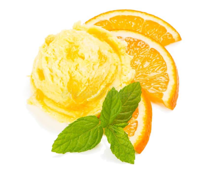 Crême glacée orange images libres de droits