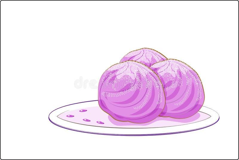 Crême glacée rose illustration stock