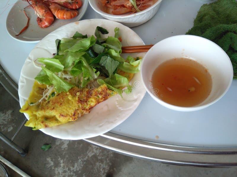 Crêpe délicieuse du Vietnam image stock