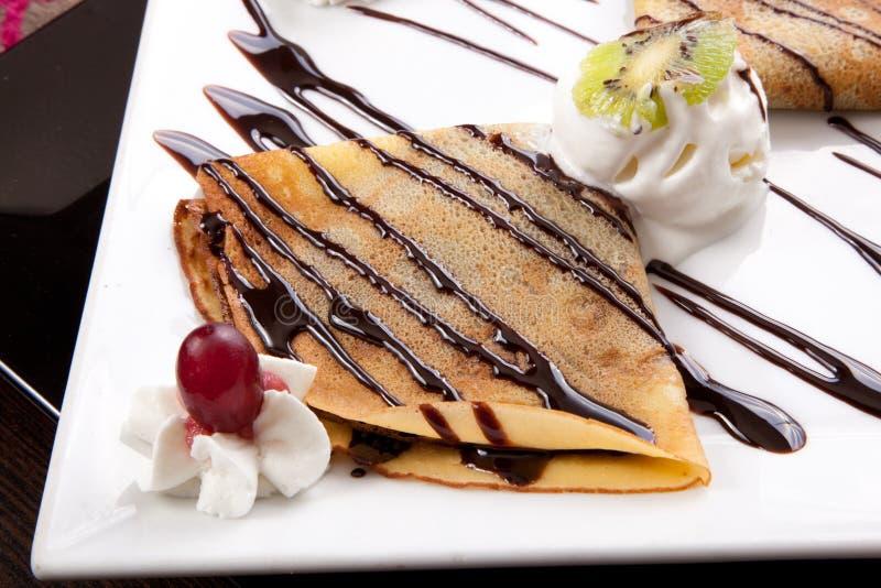 Crêpe de crème glacée
