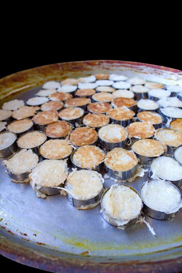 Crêpe de noix de coco de poubelle de Ba photographie stock libre de droits