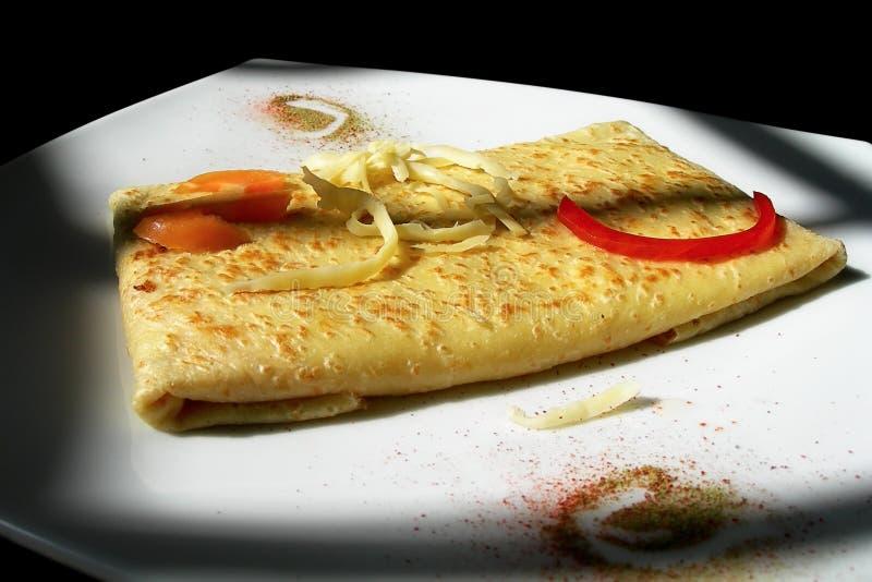 Crêpe de tomate de fromage photo stock