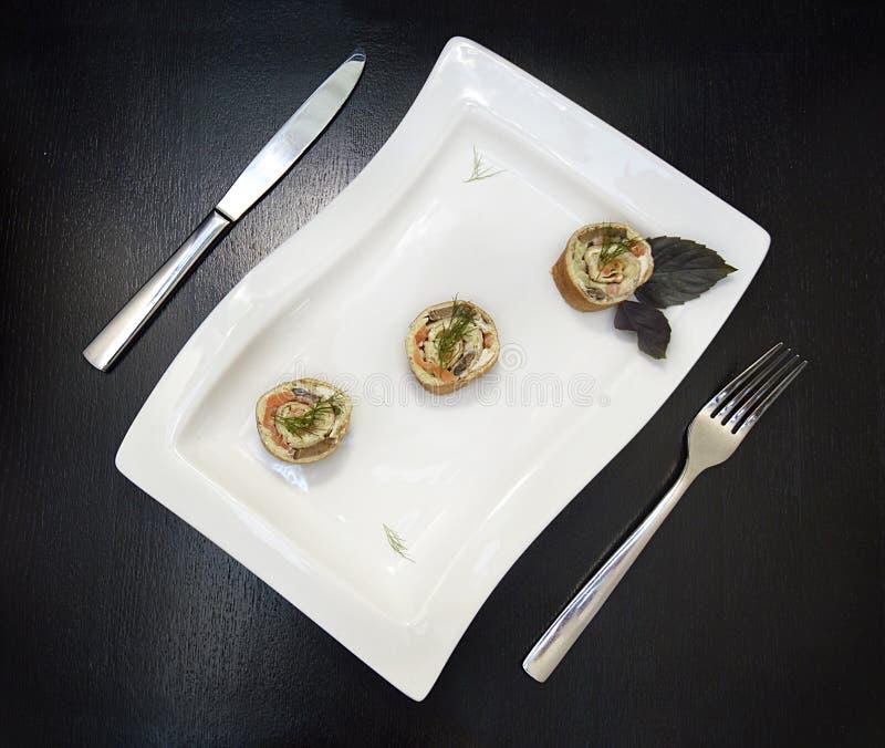 Crêpes de poissons dans le style japonais images stock