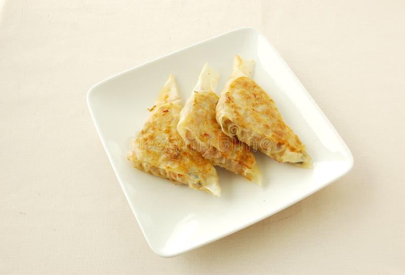 Crêpes mélangées de porc de lambeaux frites par casserole photo libre de droits