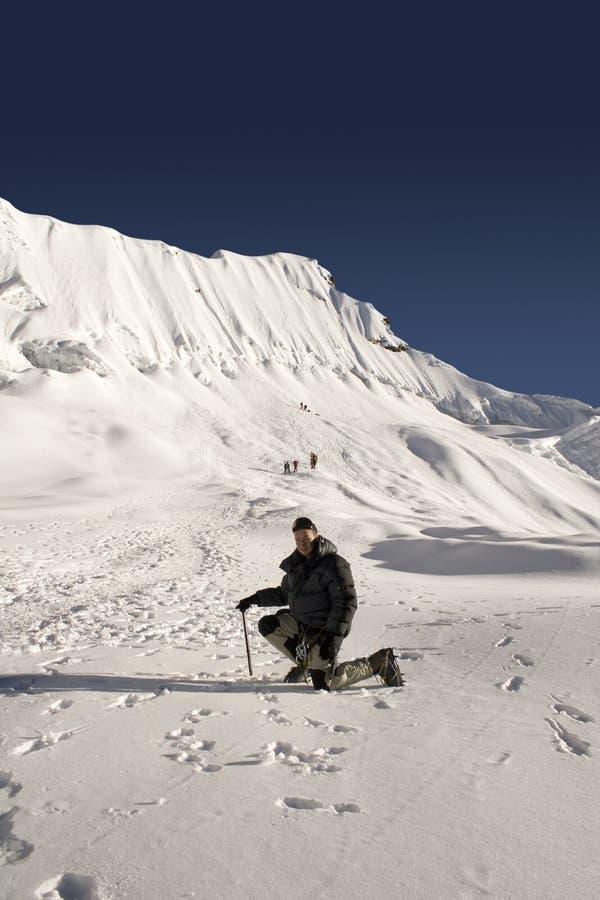 Crête d'île, Népal photographie stock libre de droits