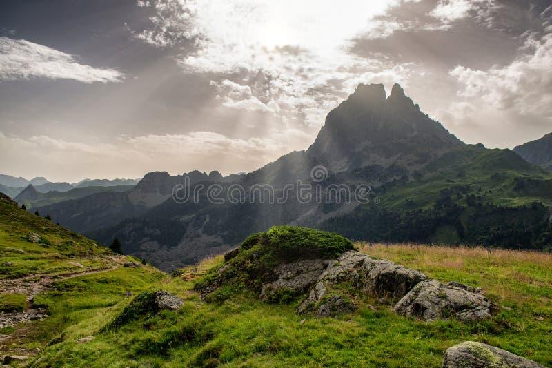 Crête d'Ossau, montagne de Pyrénées de Français images libres de droits