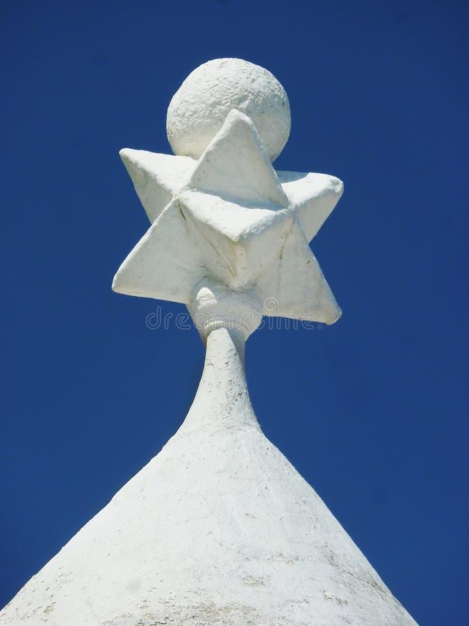 Crête d'un toit de Trullo photographie stock libre de droits