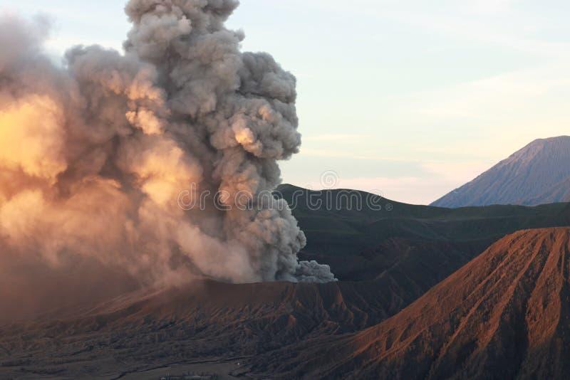 Crête de Bromo de bâti en Indonésie photos stock