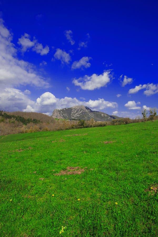 Crête de Bugarach dans le Corbieres, France image libre de droits