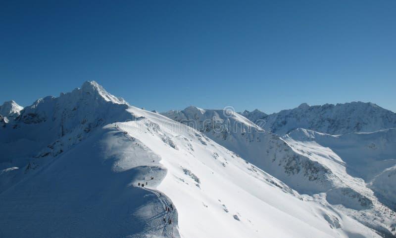Crête de haute montagne image stock