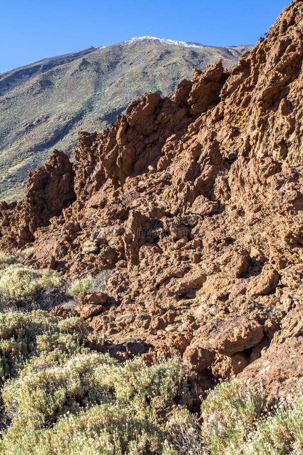 Crête de l'EL Teide de volcan, sur Ténérife images libres de droits