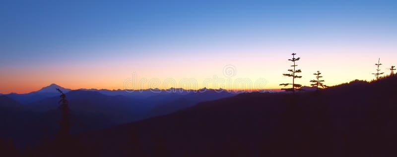 Crête de lever de soleil image stock