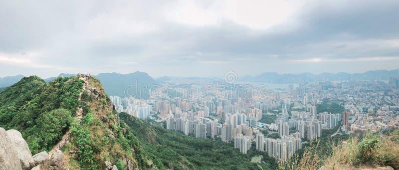 Crête de Lion Rock dans Kowloon, Hong Kong image libre de droits