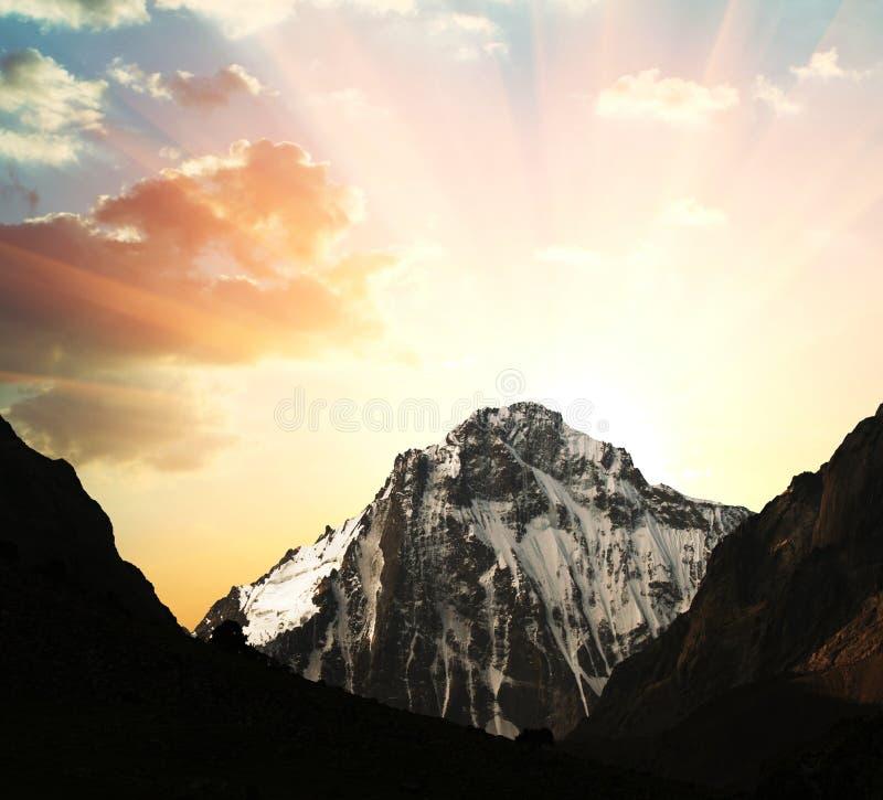 crête de montagne photo stock