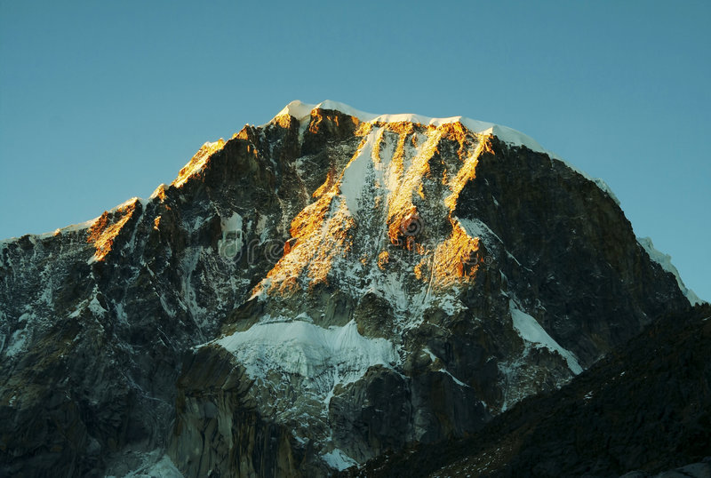 Crête de montagne Ranrapalka image stock