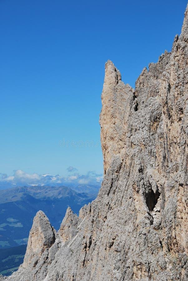 crête de montagnes de l'Italie de dolomiti images stock