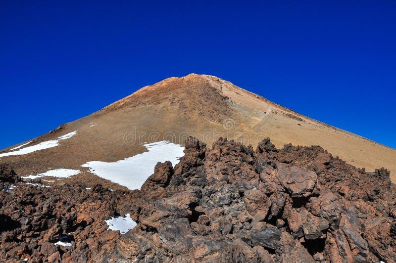 Crête de volcan d'EL Teide, Ténérife photographie stock libre de droits