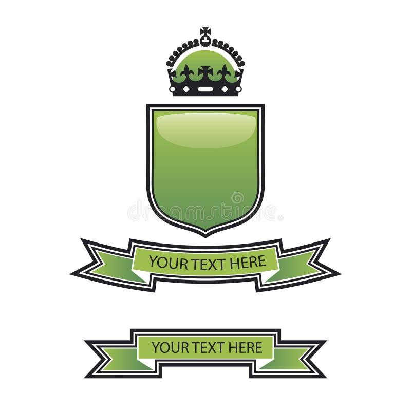 Crête verte d'écran protecteur illustration de vecteur