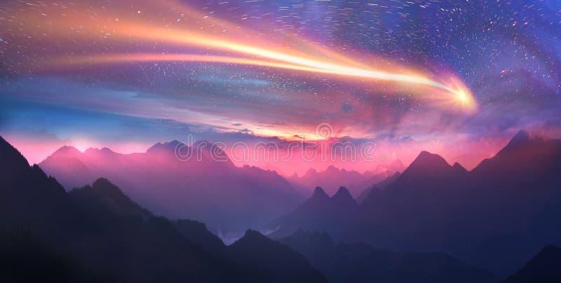 Crêtes alpines sauvages image stock