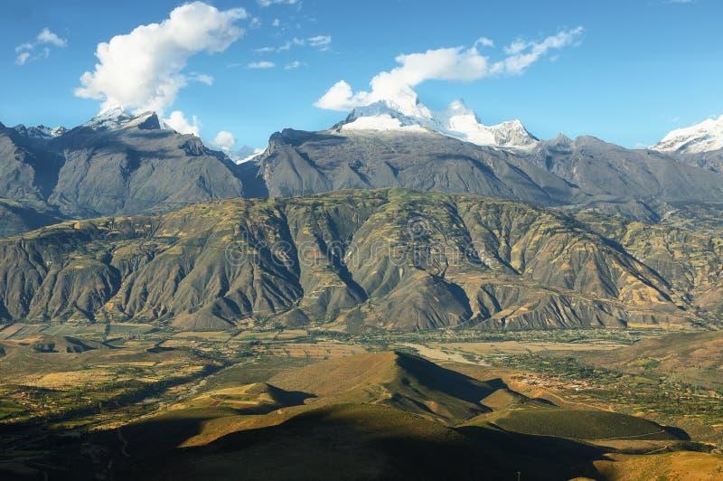 Crêtes de Huandoy, Pérou image libre de droits