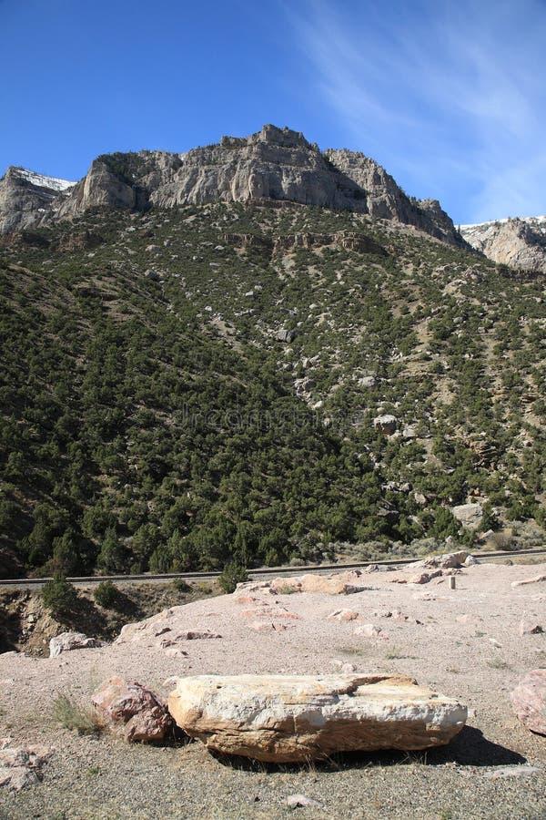Crêtes de montagne - Wyoming image stock