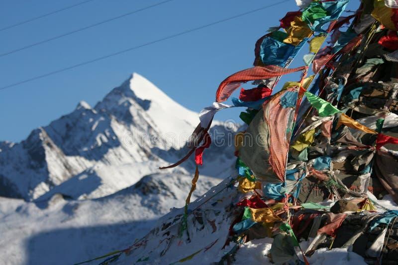 Crêtes tibétaines photographie stock