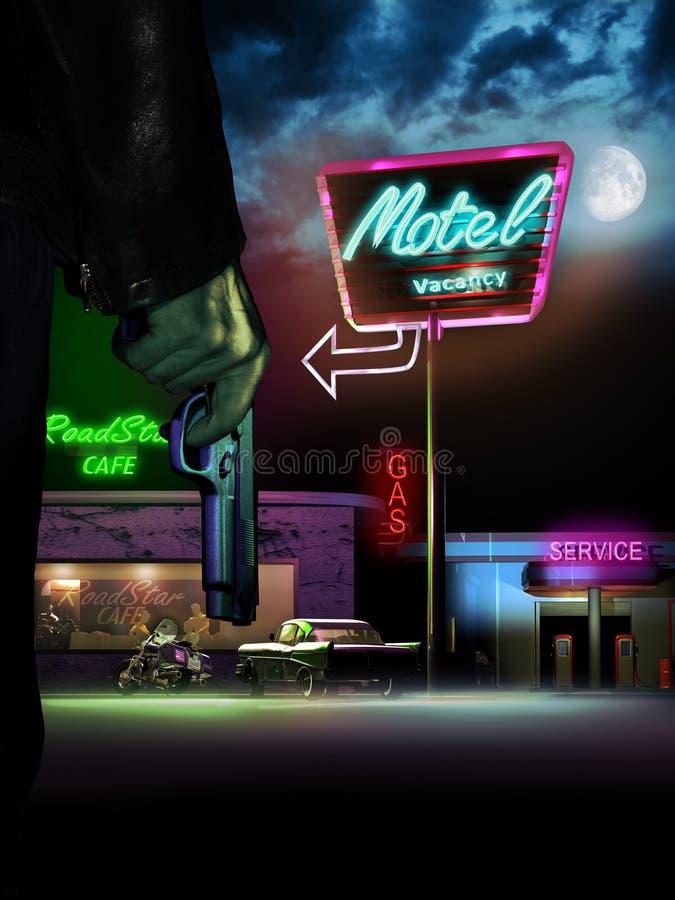 Crímenes de la noche ilustración del vector