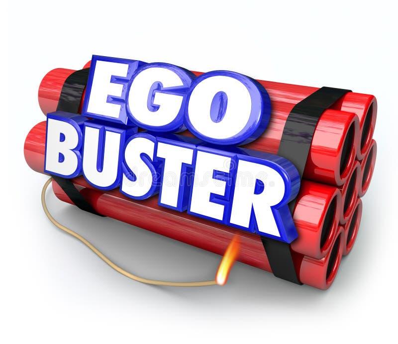 Críticas de Buster Dynamite Bomb Discouraging Feedback del ego ilustración del vector