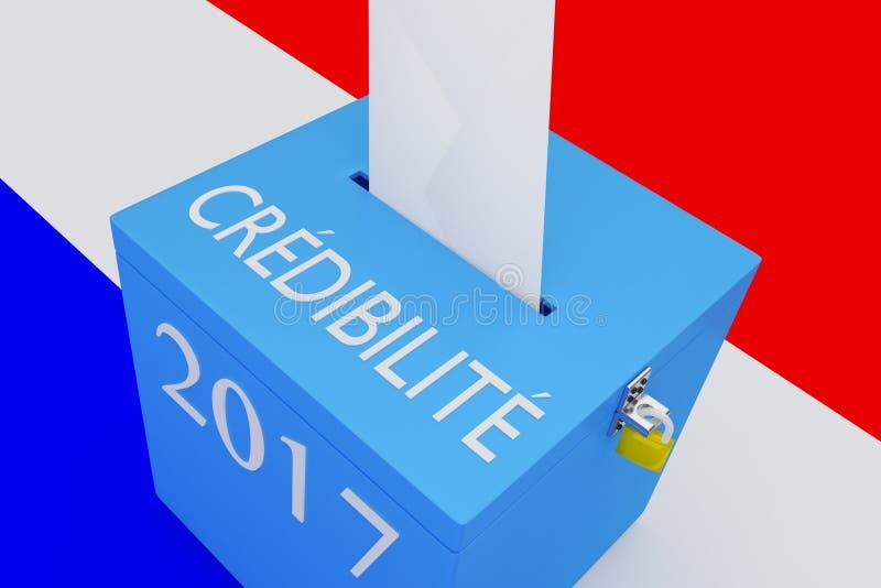 Cr? dibilit? - het Franse woord voor Geloofwaardigheid stock illustratie
