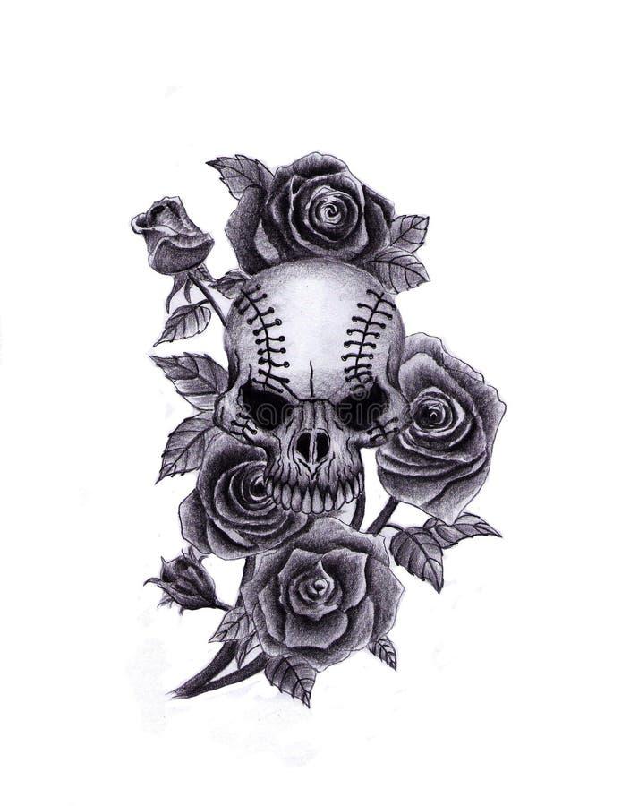 Cr?ne avec des roses illustration libre de droits