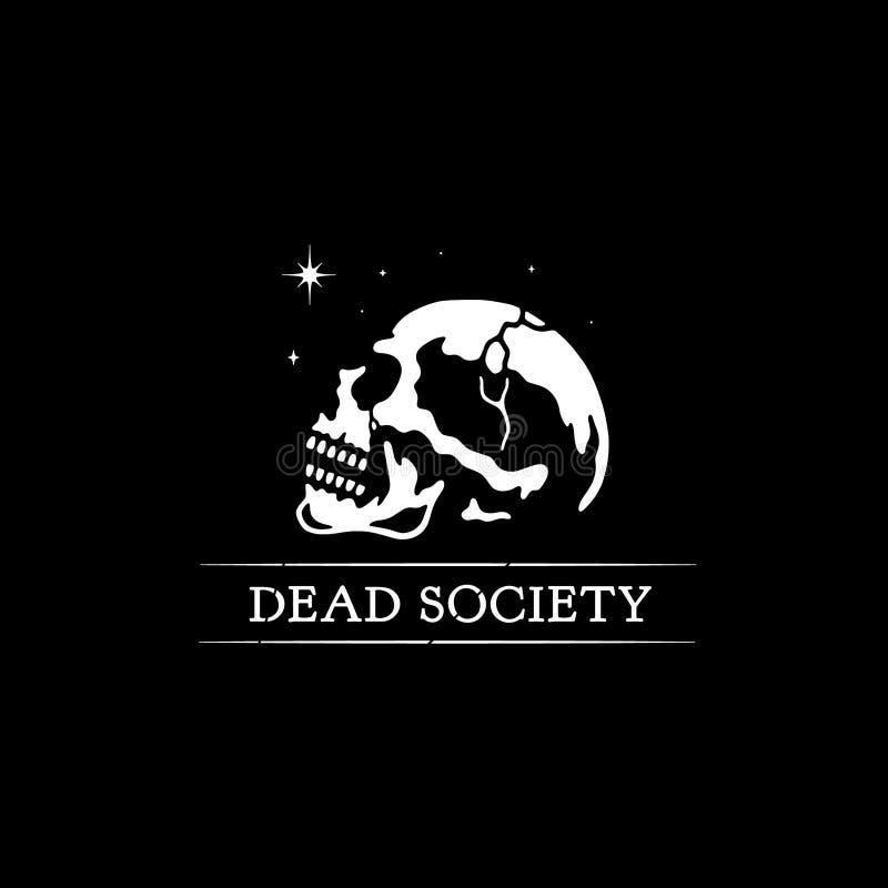CRÂNE MORT DE SOCIÉTÉ illustration libre de droits