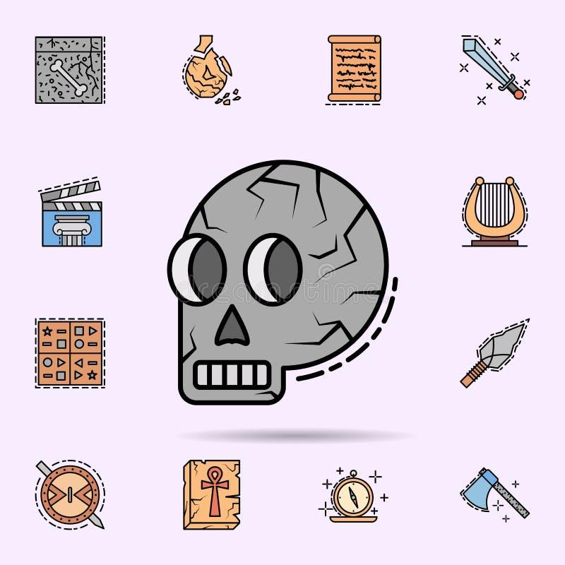 cr?neo, esqueleto, anatom?a, hueso, icono principal Sistema universal de historia para el dise?o y el desarrollo, desarrollo de l libre illustration
