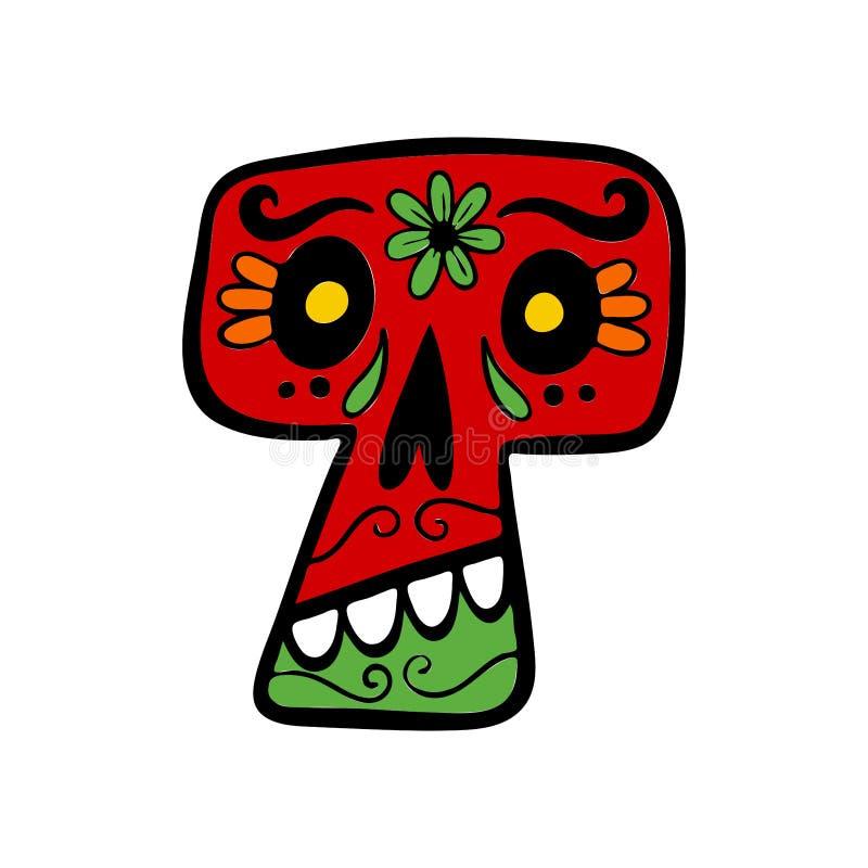Cr?neo mexicano del az?car ilustración del vector