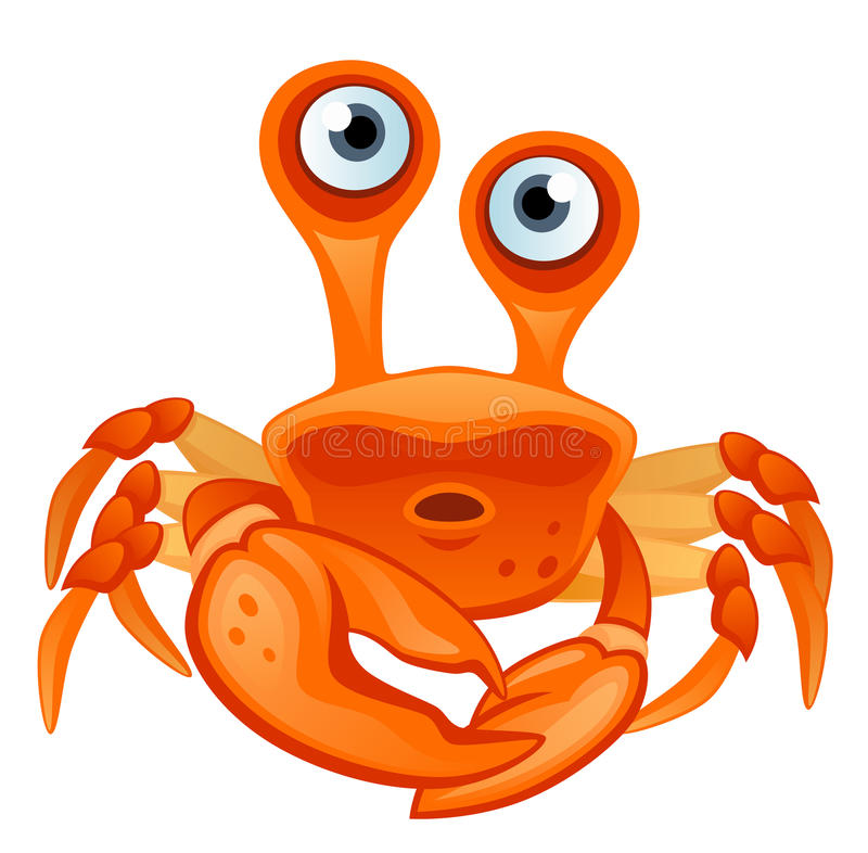 Crab. Funny crab on a white background