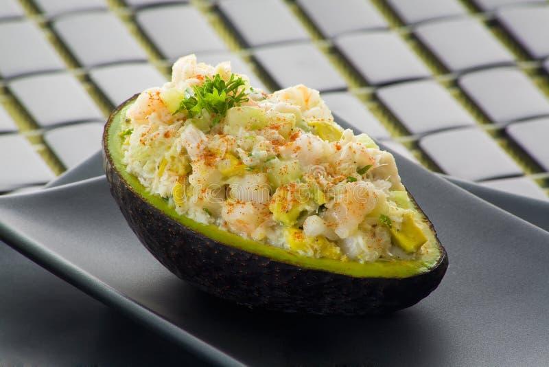Crab avocado salad royalty free stock photos