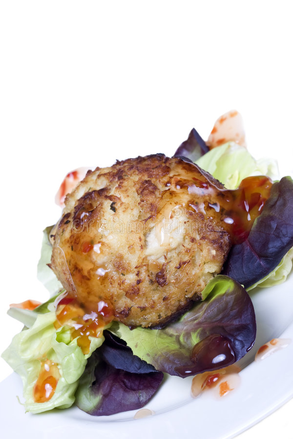 Download Crab cake stock image. Image of plate, dinner, king, isolated - 4313221