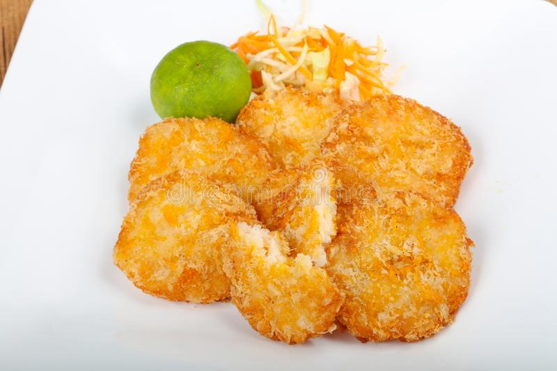 Crab cakes stock images