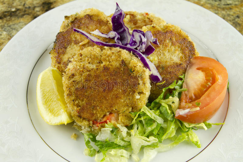 Crab Cakes Dish stock photography