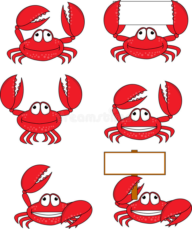 Download Crab cartoon stock vector. Image of armour, character - 22747391