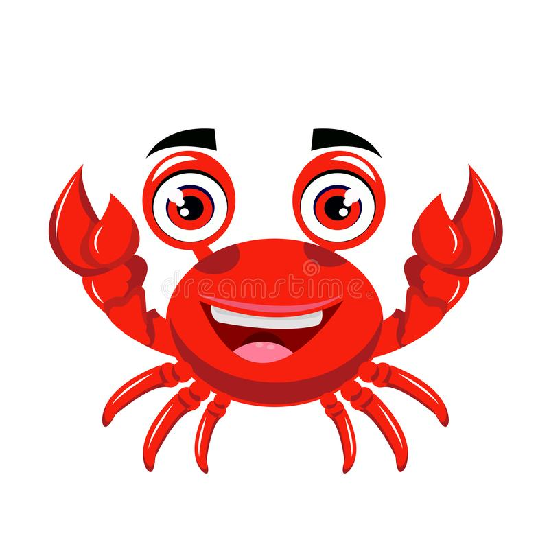 Crab cartoon or crab Clipart cartoon isolated on white background vector illustration