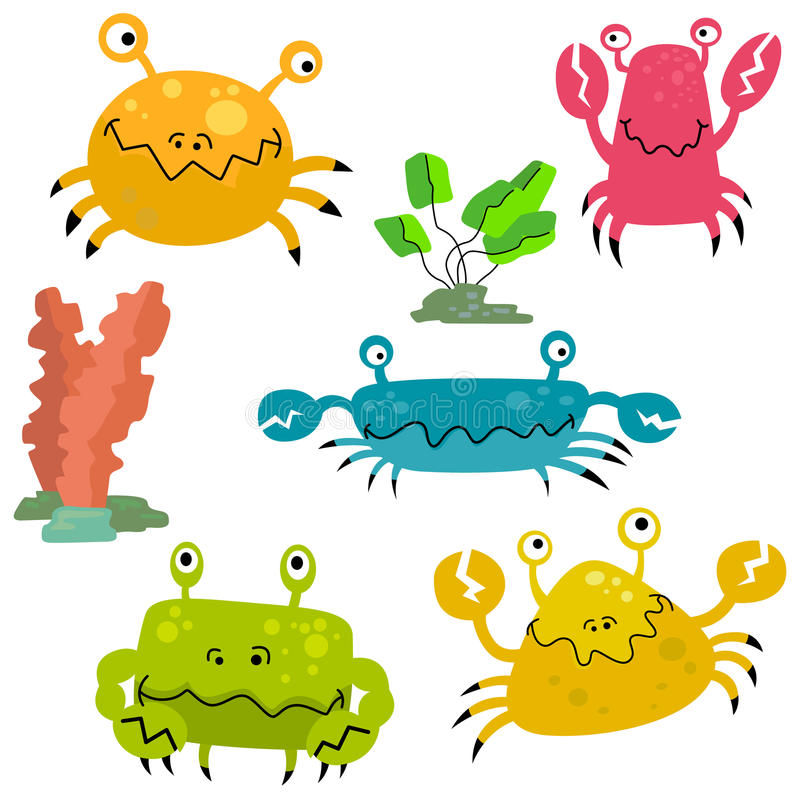 Crab characters royalty free illustration