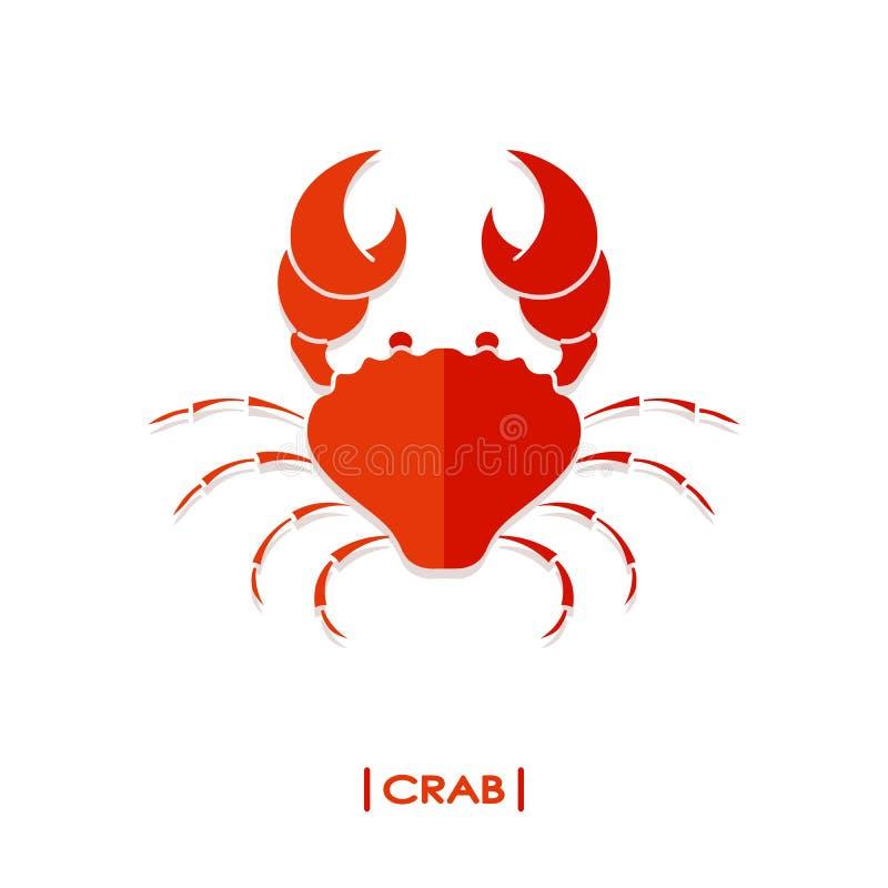 Crab colorful icon vector illustration