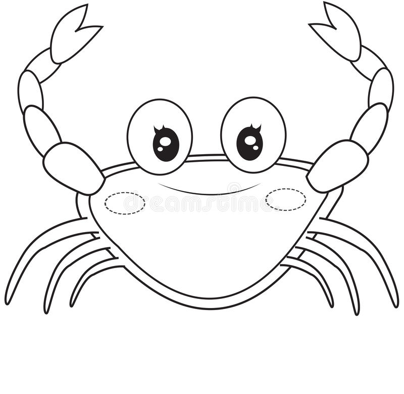 download crab coloring page stock illustration illustration of detail 50278079 - Crab Coloring Page