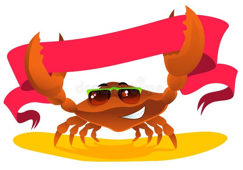 Crab com fita ilustração stock