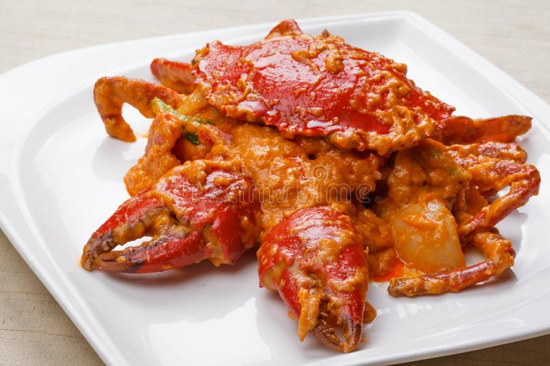 Fried crab with curry royalty free stock image