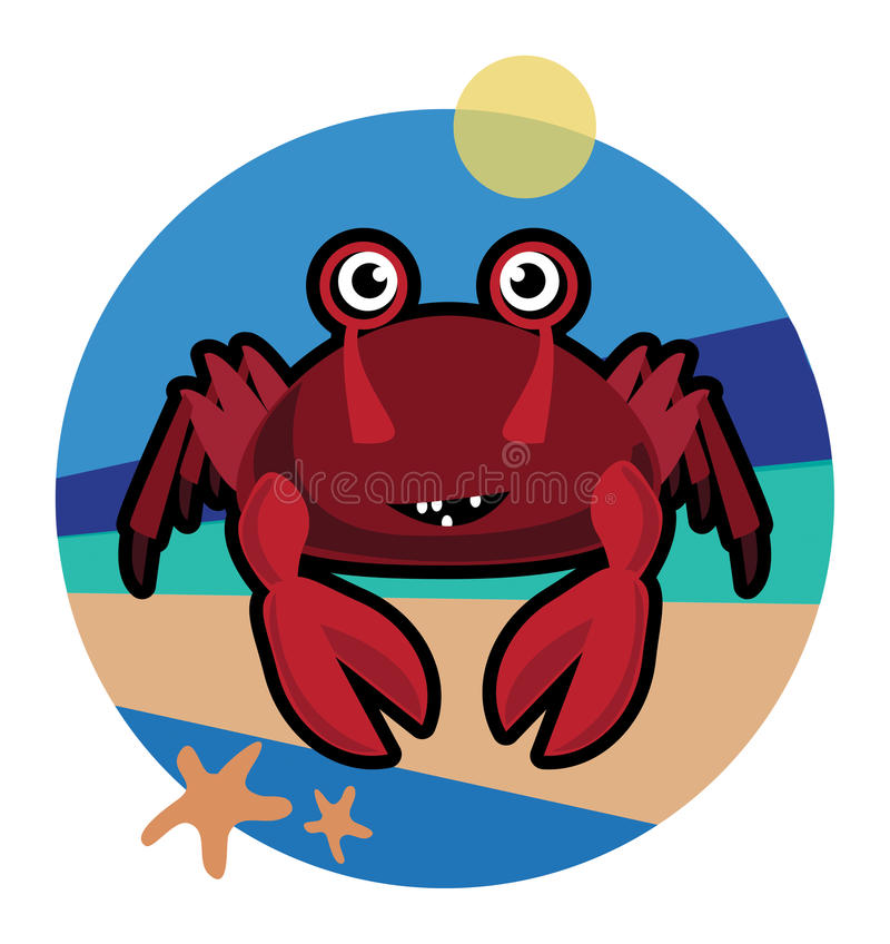 Download Crab stock illustration. Image of color, colorful, eyes - 33286694