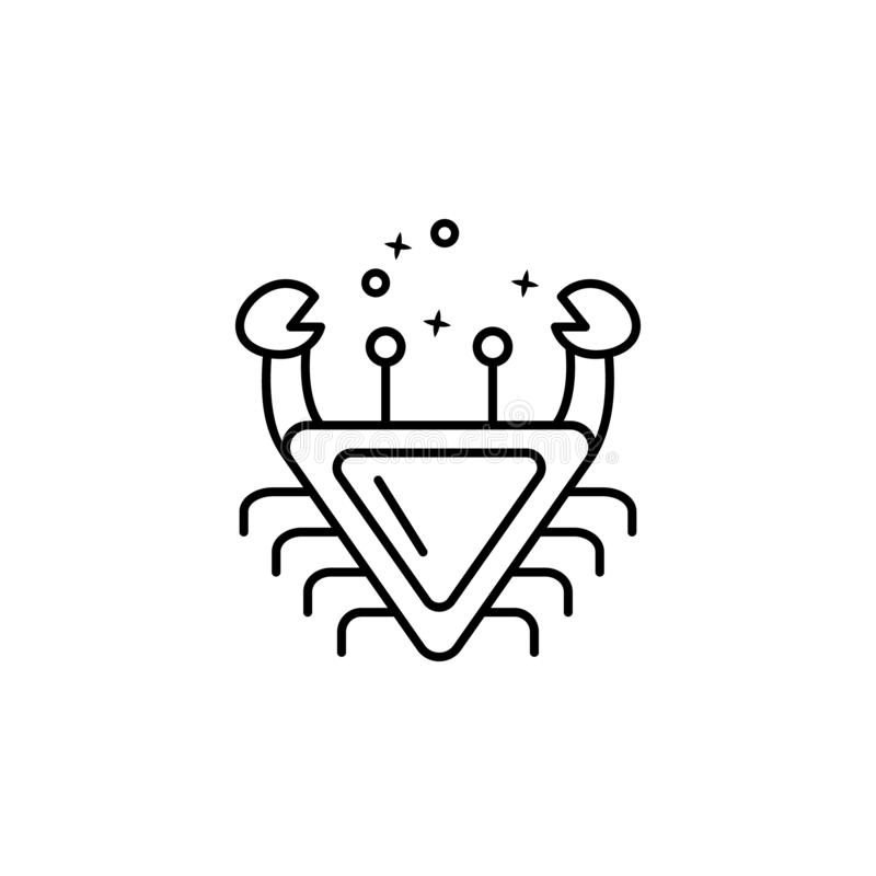 Crab food summer icon. Element of menu dishes icon vector illustration