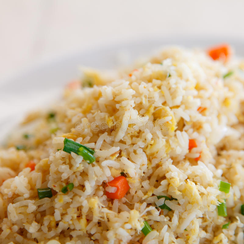Crab fried rice royalty free stock photos